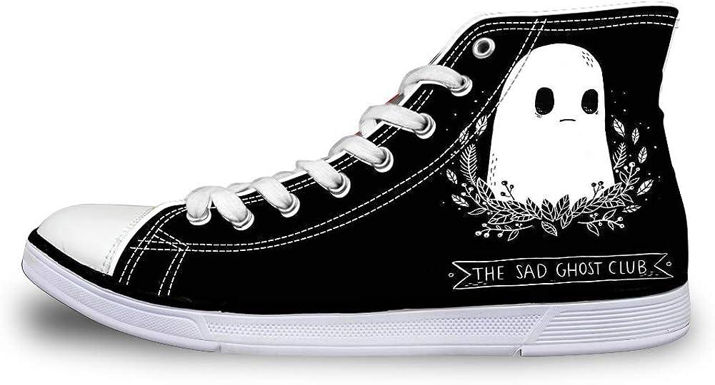 Canvas High Top Sneaker Casual Skate Shoe Mens Womens Halloween The Sad Ghost Club