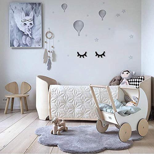 Dulcii Cloud Shape Kids Rugs, Soft Baby Floor Play Mat Area Rugs for Boys and Girls Bedroom and Playroom Kids Home Decor Carpet, Large Nursery Mat 40x25.6 inch, Grey (Rug Cloud Shaped)