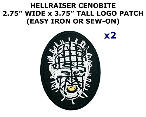 2 PCS Hellraiser Cenobite Theme DIY Iron / Sew-on Decorative Applique Patches
