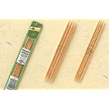 "Bulk Buy: Clover Bamboo Double Point Knitting Needles 7"" 5/Pkg Size 1 3015-1 (3-Pack)"