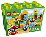 LEGO 10864 DUPLO My First Large Playground Brick Box Construction Set, Easy Toy Storage Preeschool Toys for Kids 2-5