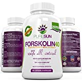 Strongest 100% Pure Forskolin Extract ● 90 DAY SUPPLY ● Potent Coleus Forskohlii ● Extreme Weight Loss, Appetite Suppressant, Metabolism Boost, Carb Blocker ● 40% Standardized & Natural 260mg