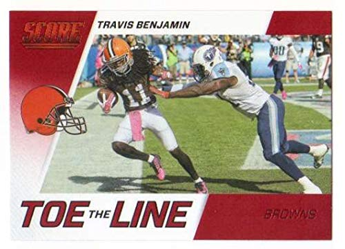 Red Line Xiii Game - 2016 Score Toe the Line Red #13 Travis Benjamin Browns Football Card NM-MT