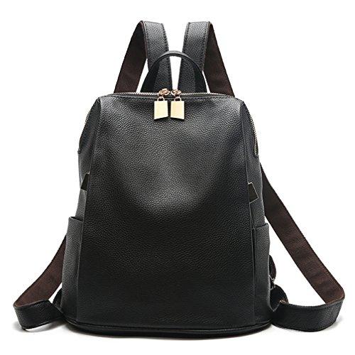 Daypacks Della Delle Casuali Universitari Un Design Scuola Pelle Zaino Sacchetto Di Stile Nera Donna Semplice Donne Per g6Exdw
