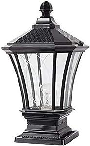 ZZYJYALG Outdoor Post Mount Light, Glass Lantern Column Lamp Bronze Outdoor Waterproof Aluminum Metal External Column Light E27 Decor Street Light Pillar Post Lamp for Lawn Garden Villa Park