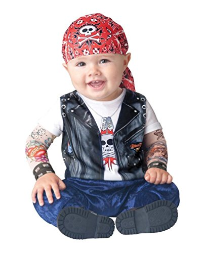 [Born To Be Wild Baby Infant Costume - Infant Medium] (Quick Halloween Costumes For Boys)