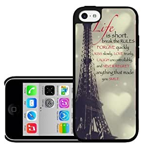 """diy phone caseCaitin """"Life Is Short Cell Phone Cases Cover for iphone 4/4s (Laster Technology)diy phone case"""