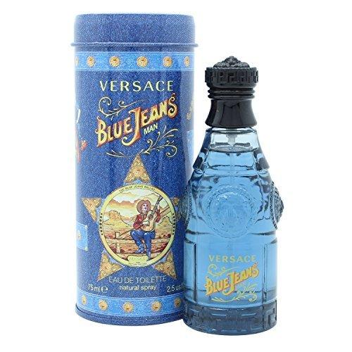 Versace Blue Jeans Man Eau de Toilette Natural Spray 2.5 Ounce Blue 2.5 Ounce Edt