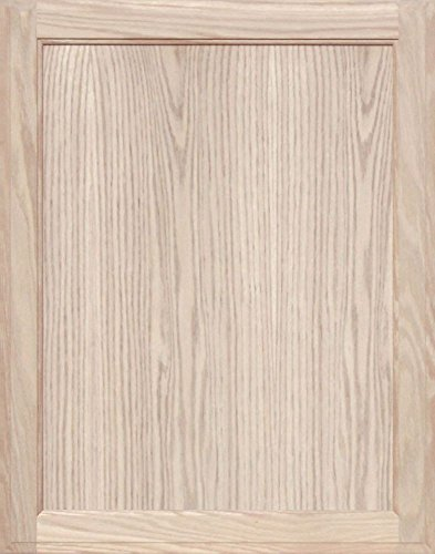 Unfinished Oak Square Flat Panel Cabinet Door by Kendor, 28H x 22W