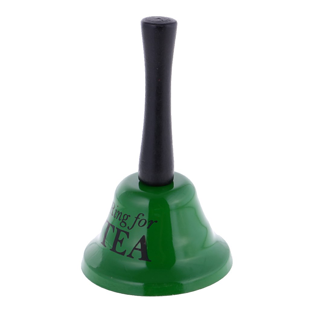 MagiDeal Lustige Metall Handglocke Schulglocke Glocke Tischglocke - Ring for Tea