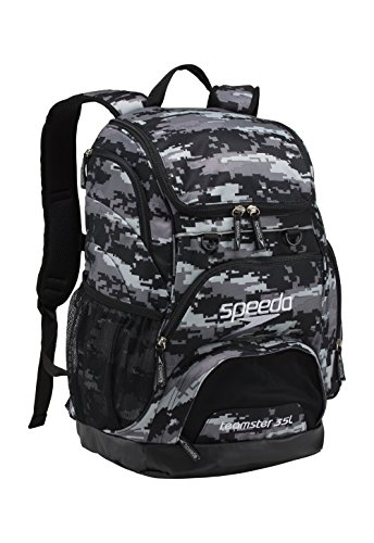 Speedo Large Teamster Backpack, Digi Camo Grey, 35-Liter