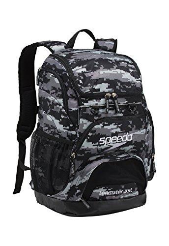 Speedo Printed Teamster 35L Backpack, Digi Camo Grey, 1SZ