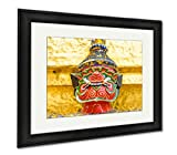 Ashley Framed Prints Old Faithful Close Up Thai Giant Statue Golden Pagodat Grand, Modern Room Accent Piece, Color, 34x40 (frame size), Black Frame, AG5593660