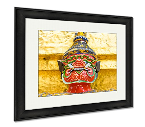 Ashley Framed Prints Old Faithful Close Up Thai Giant Statue Golden Pagodat Grand, Modern Room Accent Piece, Color, 34x40 (frame size), Black Frame, AG5593660 by Ashley Framed Prints