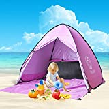 Nequare Pop Up Beach Tent Sun Shelter UV Protection Beach shade Portable Camping Tent for 2-3 Person