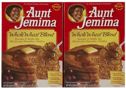Aunt jemima the best amazon price in savemoney aunt jemima pancake mix whole wheat 35ozpack of 2 ccuart Images