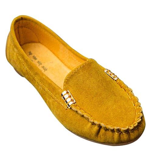 Gtagain Cuero Conducción Exterior Mocasines - Comodidad Ropa Interior Suela Ante Bote Zapatos Regalo Vacaciones Chicas Señoras Mocasines: Amazon.es: Zapatos ...