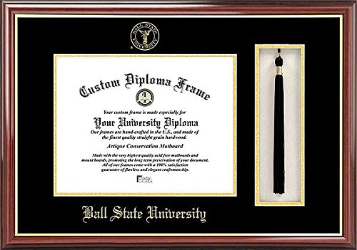 Ball State University Tassel Box and Graduate Diploma Fra...