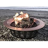 """40"""" Solid 100% Copper Fire Pit Bowl Wood Burning Patio Frontgate Deck Grill"""