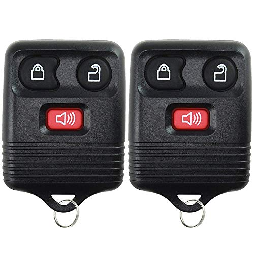 eplacement Remote Key Fob Keyless Entry System Transmitting 3 Button for Ford 1998-2016 F-150 F-250 F-350- Easy Programming ()