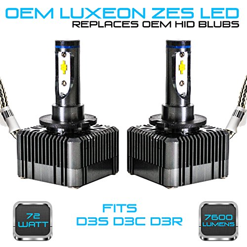 Stark 72W 7600LM Headlight LED Canbus Conversion Kit 6000K White Replace OEM HID Xenon Bulbs - D3S D3R D3C ()