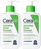 CeraVe Hydrating Cleanser - For Dry To Normal Skin - Net Wt. 8 FL OZ (237 mL) Per Bottle - Pack of 2 Bottles