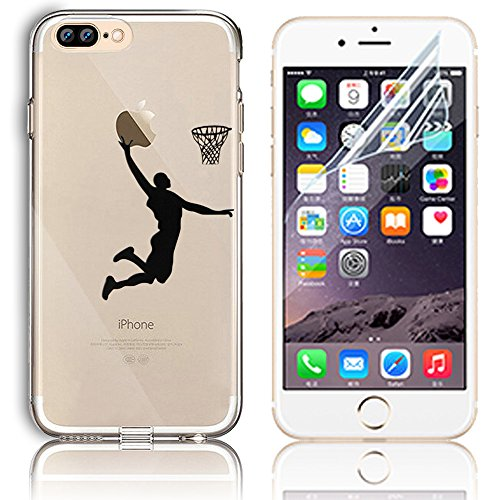 Transparente TPU Funda para iPhone 7 Plus Silicona Gel Sunroyal ...