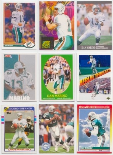 Dan Marino / 50 Different Football Cards Featuring Dan Marino ()