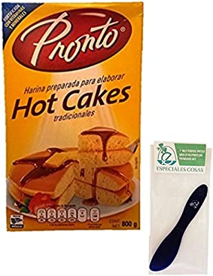 Pronto Hot Cakes Baking Mix 800 Grams (Pack of 2) and Especiales Cosas Mixing Spatula