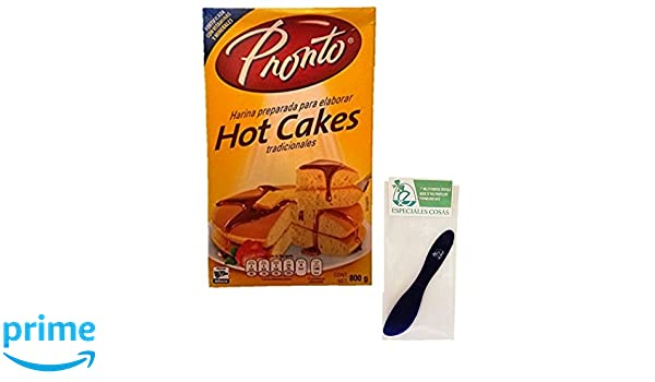 Amazon.com : Pronto Hot Cakes Baking Mix 800 Grams (Pack of 2) and Especiales Cosas Mixing Spatula : Grocery & Gourmet Food
