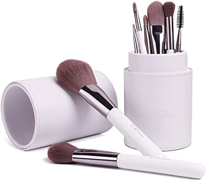 DUcare Brochas de Maquillaje Blanco 8pcs Set de Brochas de Maquillaje Profesional con Estuche: Amazon.es: Belleza
