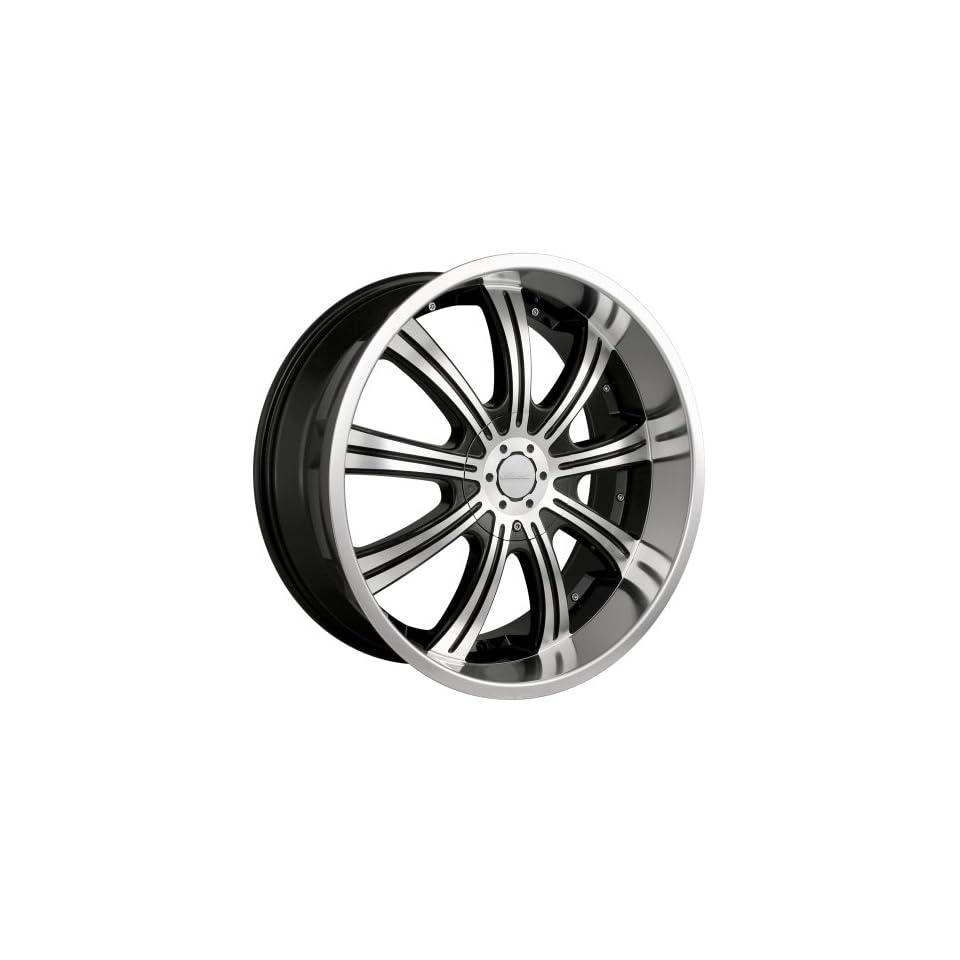 24x9.5 Veloche Vapor (955) (Black w/ Machined Face) Wheels/Rims 6x135/139.7 (955B 24937)