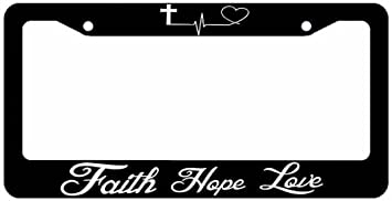 I LOVE JESUS I HEART JESUS  License Plate Frame