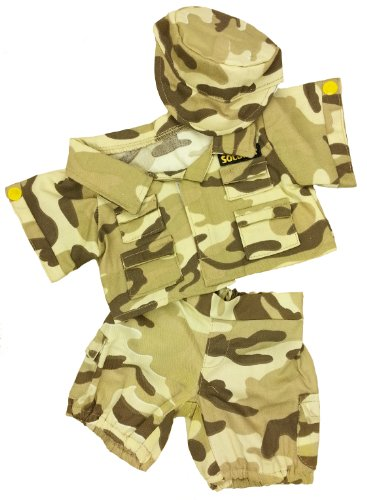 (Desert Soldier Outfit Teddy Bear Clothes Outfit Fits Most 14