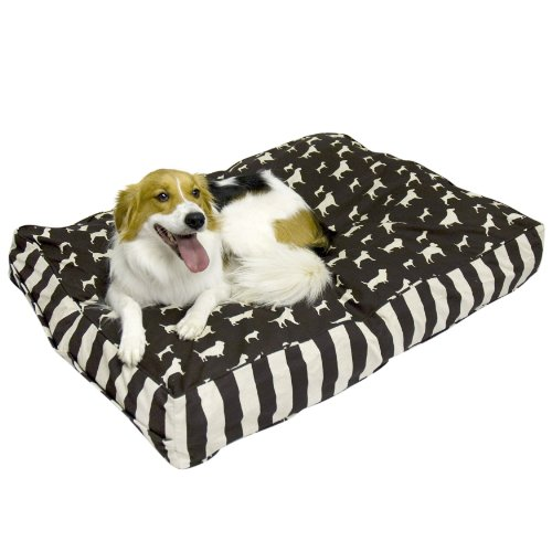 Happy Hounds Buster Small 24 by 36-Inch Dog Bed, Chocolate/L