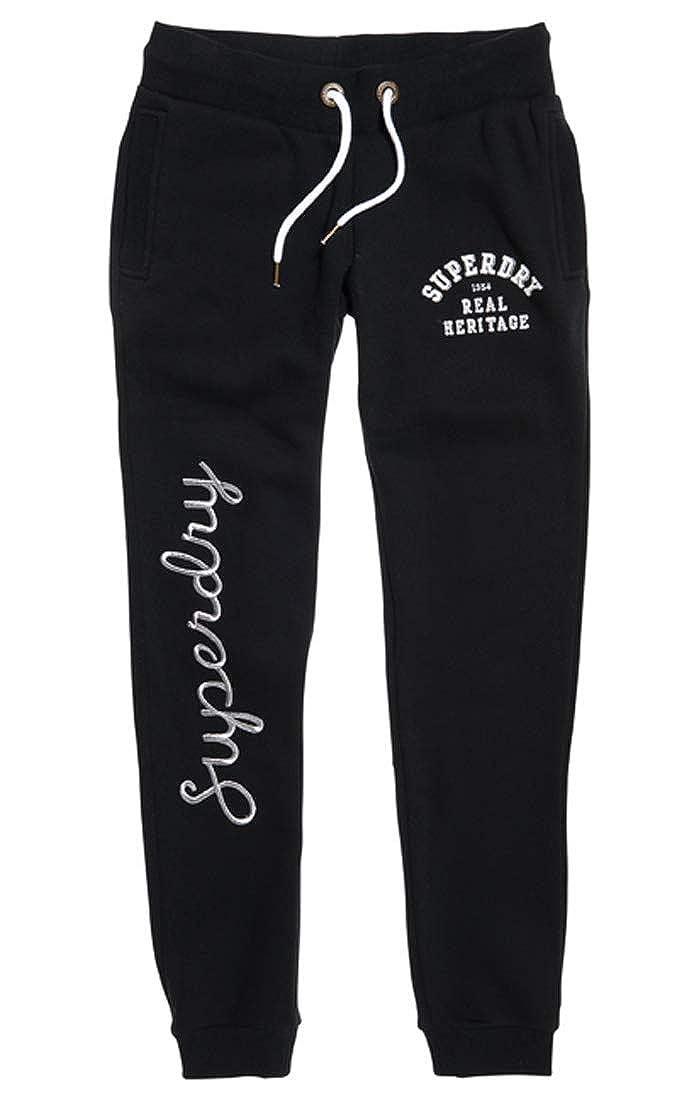TALLA Medium (Talla del fabricante: 12.0). Superdry Aria Applique Slim Jogger, Pantalones Deportes para Mujer