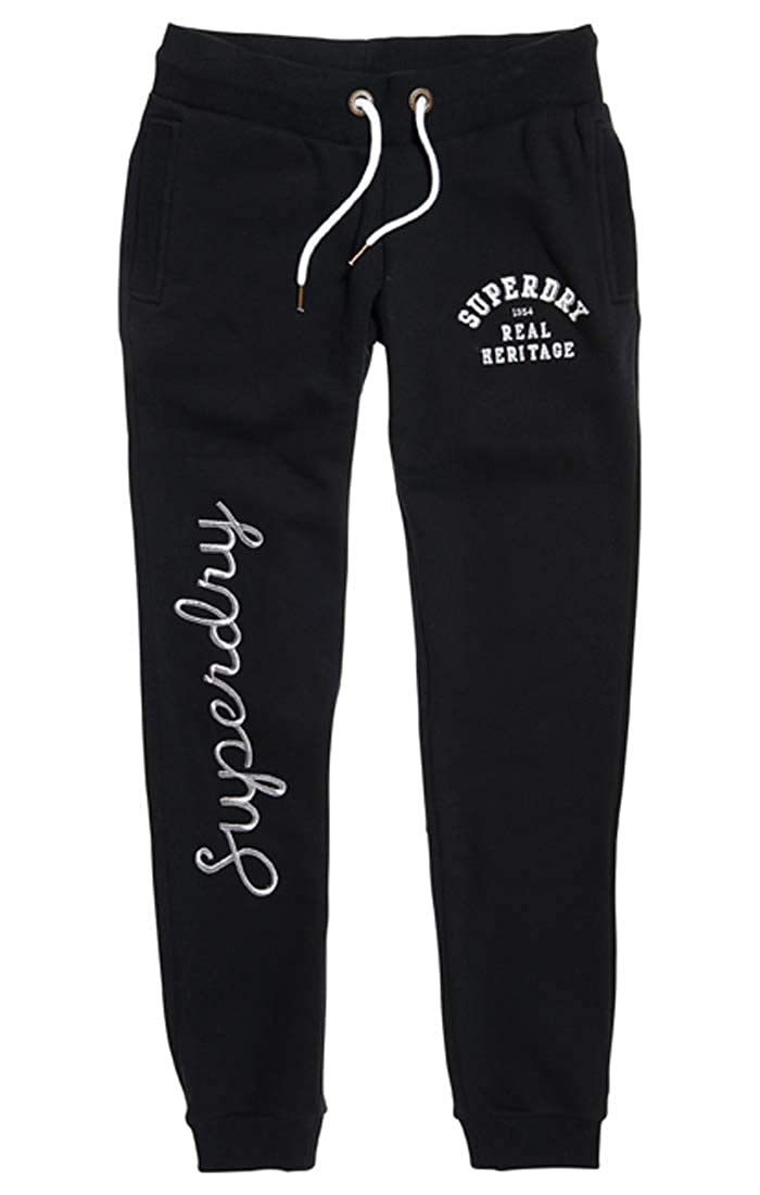 TALLA Small (Talla del fabricante: 10.0). Superdry Aria Applique Slim Jogger Pantalones Deportes para Mujer