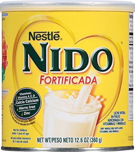 Nestle NIDO Fortificada Dry Milk 12.6 oz. ,Canister