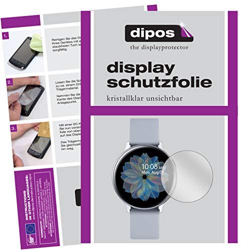 dipos I 6X Schutzfolie klar kompatibel mit Samsung Galaxy Watch Active 2 44mm Folie Displayschutzfolie (bewusst Kleiner…