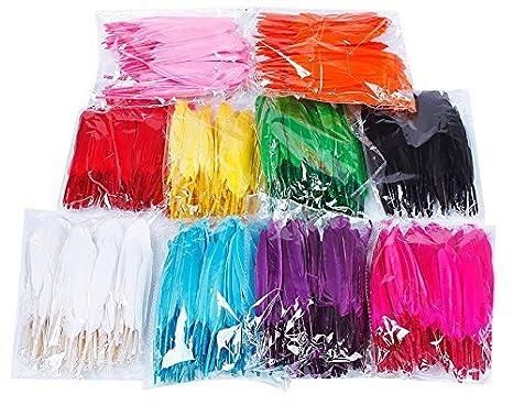 Colorful Goose Feathers 100pcs/pack/ (10pcs X10colors) (4--6 inch) longteng 4336854363