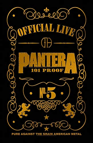 Pantera 101 Proof Textile Flag Black 66 x 105cm 40x28 inch