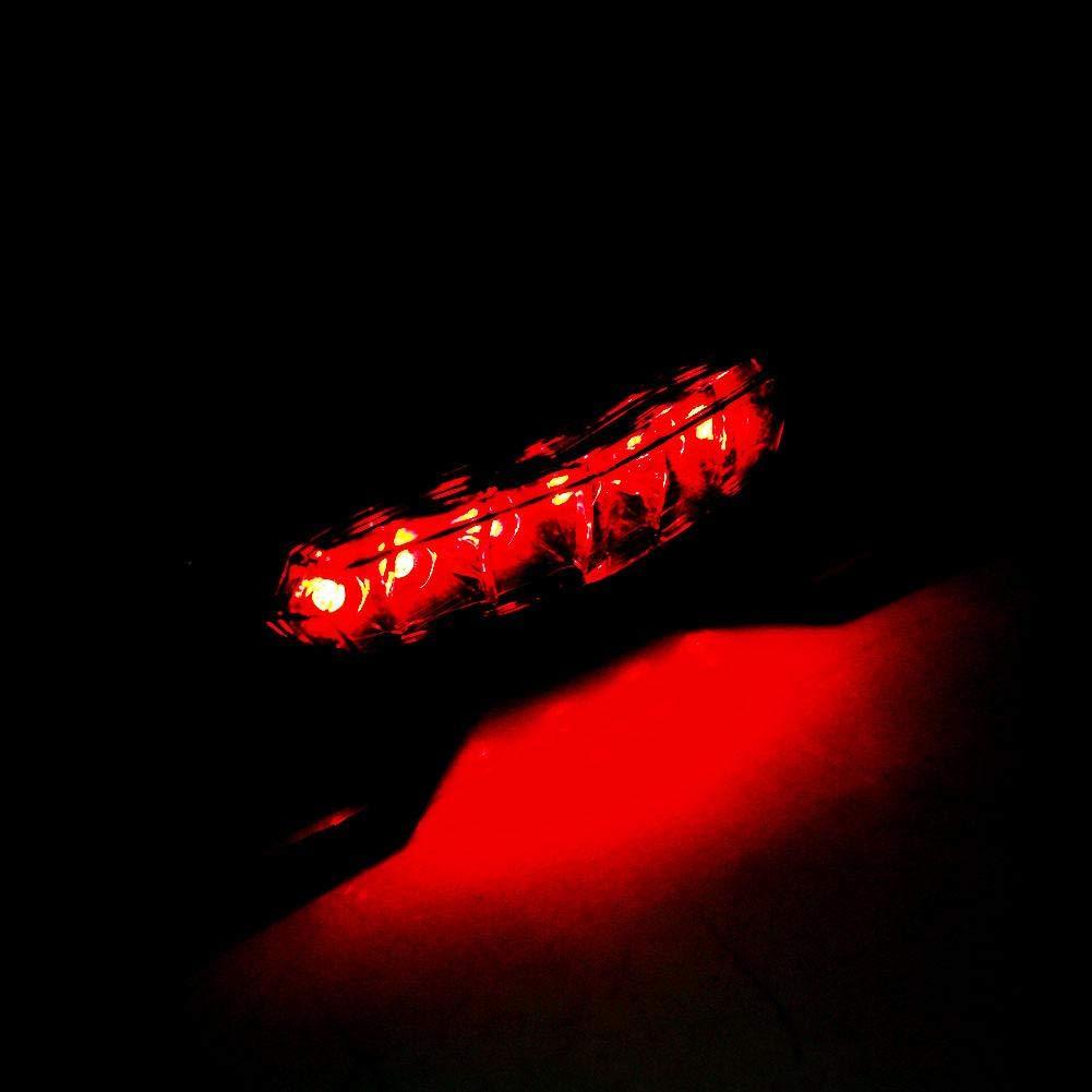 Luz de freno de cola de motocicleta 1 pieza Motocicleta ATV Dirt Bike LED Luz de freno de cola Luz de matr/ícula de motocicleta Soporte de soporte de montaje de placa de matr/ícula Luz azul roja