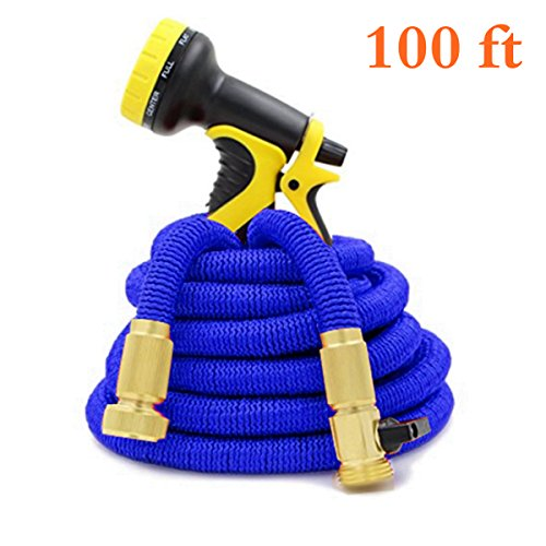 new-2017-expanding-water-hose-blue-100-ft-lightweight-durable-expandable-garden-hose-with-all-brass-