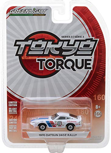 - 1970 Datsun 240Z #301 La Carrera Panamericana Rally 2015 Mexico Tokyo Torque Series 3 1/64 Diecast Model Car by Greenlight 47010 B