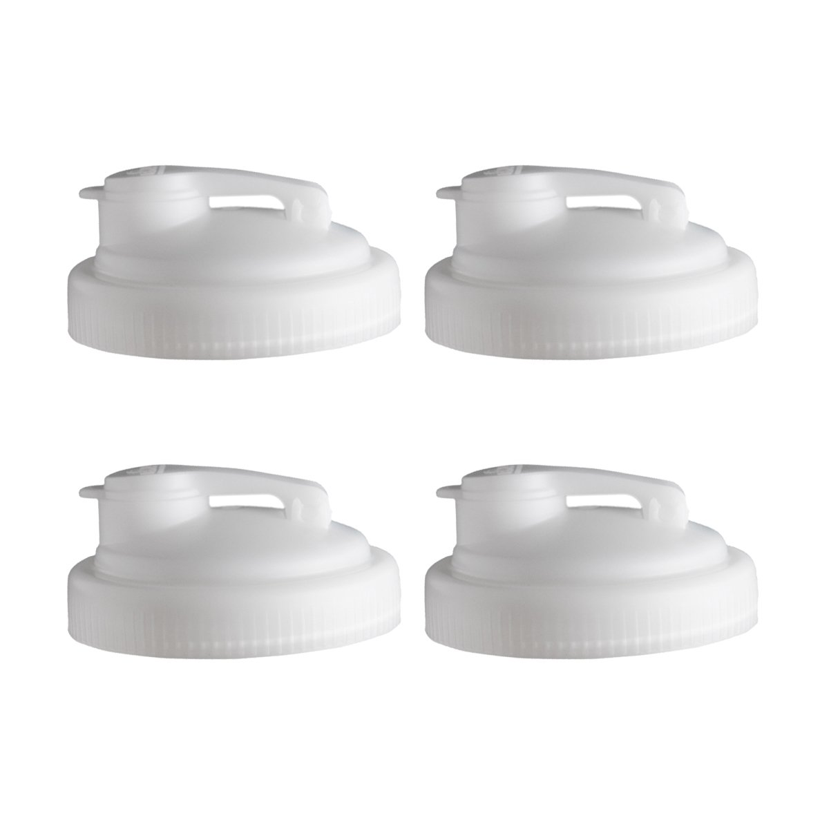 reCAP P-W-NTRL4 Mason Pour, Wide Mouth, Canning Jar Lids, Natural-4 Pack