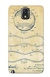 Fashion Protective 1928 Baseball Patent Artwork Vintage Case Cover Design For Galaxy Note 3