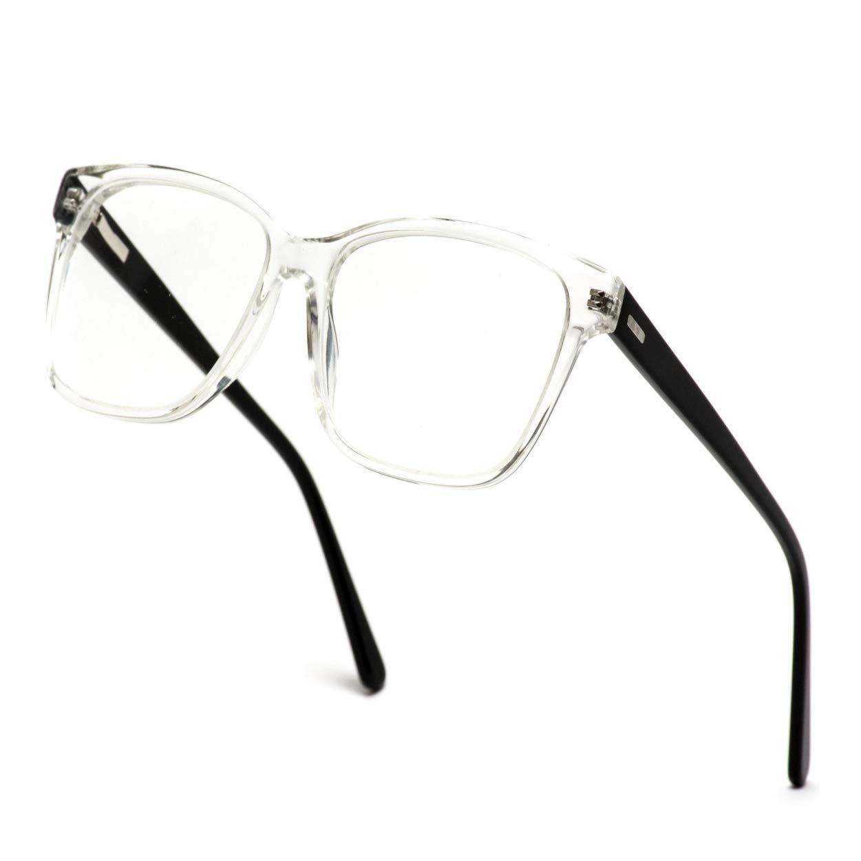 0bd265f74da Amazon.com  WearMe Pro - Square Acetate Optical Frame Flex Hinge Glasses   Clothing