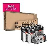 Energizer Max Alkaline 9 Volt Batteries, 8 Count