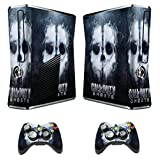 Designer Skin Sticker for Xbox 360 Slim Console with Two Wireless Controller Decals Call of Duty Ghosts