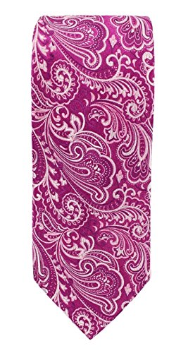 Geoffrey Beene Print Tie - Geoffrey Beene One Paisley Print Statement Neck Tie Purple Not Applicable